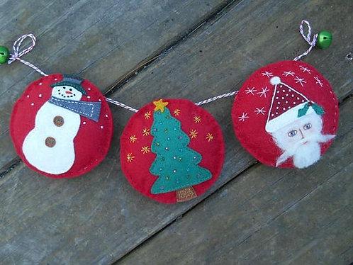 Christmas garland, holiday bunting