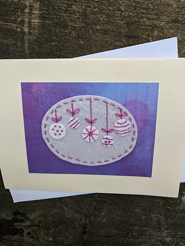 Christmas ornament card, holiday greeting card