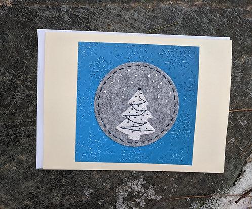 Christmas tree card, holiday card