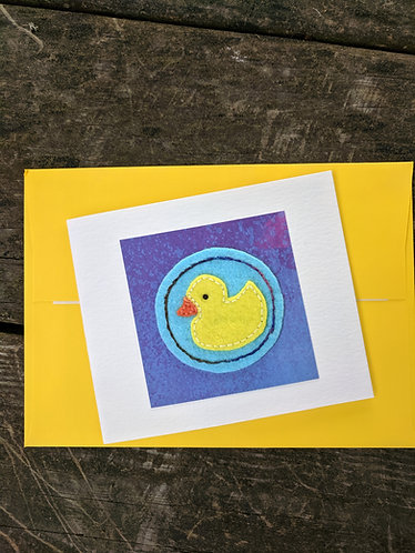 Rubber ducky card, new baby card, welcome baby