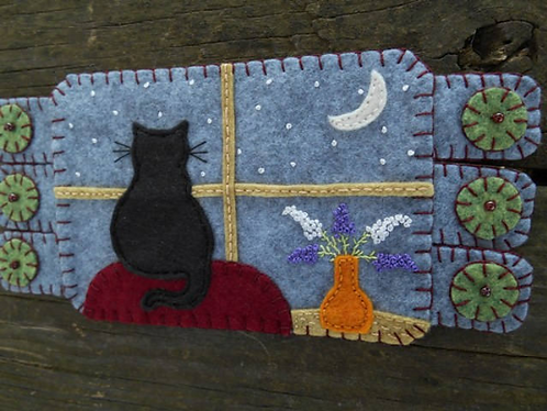 Handmade Mug Rug, Handmade Coaster, Cats, Kitty Art