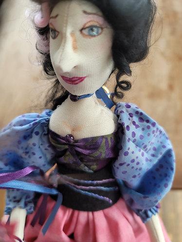 OOAK doll, Mardi gras doll