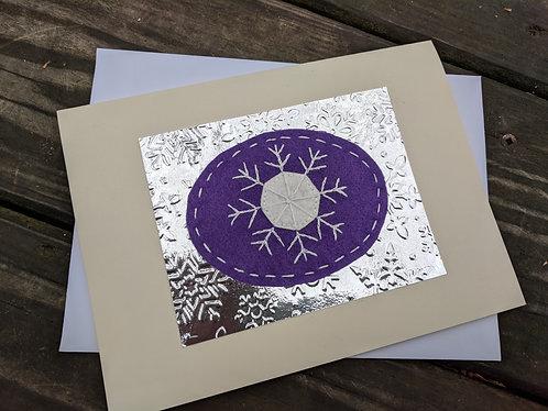 Snowflake card, winter greeting card