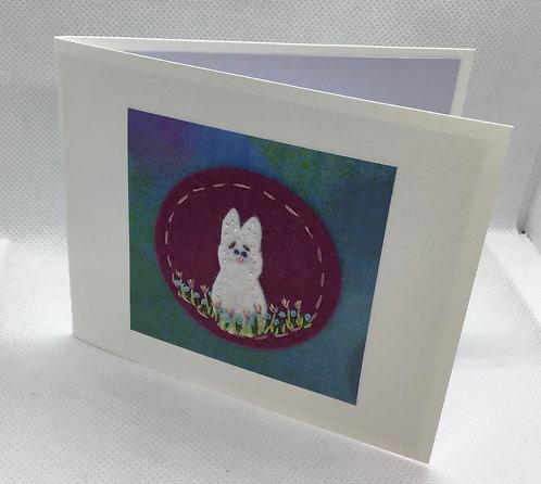 """4"""" bunny card"""