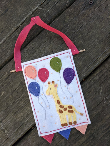 Baby giraffe Wall hanging, nursery decor
