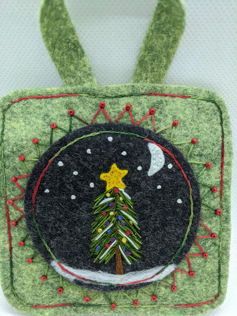 Christmas Nature Scene Ornament