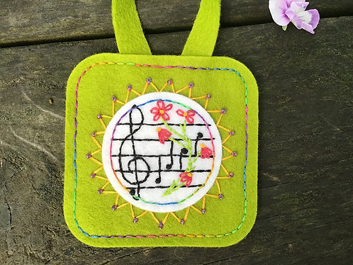 Music notes ornament, music lover gift