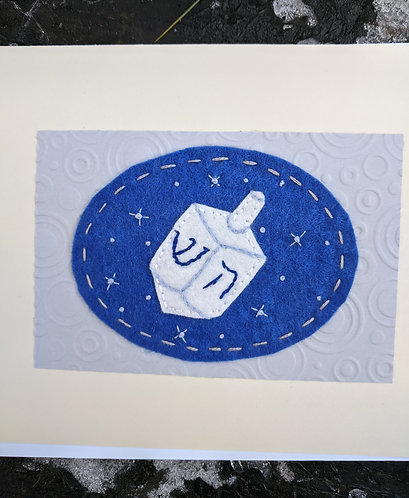 Dreidel Hanukkah card