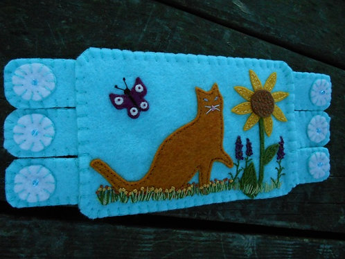Orange Cat Mug Rug Coffee Coaster