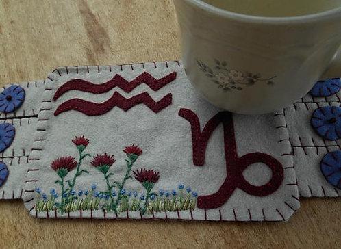 January Birthday Mug rug