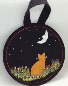 Cat in the Moonlight Ornament