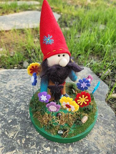 Garden gnome, cloth doll