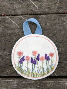 Flower Embroidery Ornament