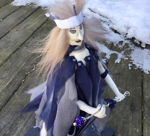 Art doll spirit queen, ooak cloth doll