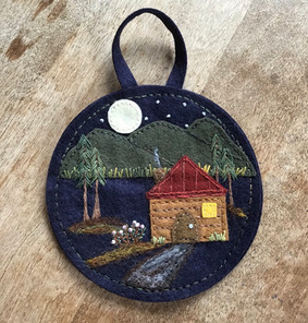 log Cabin in the Woods Ornament