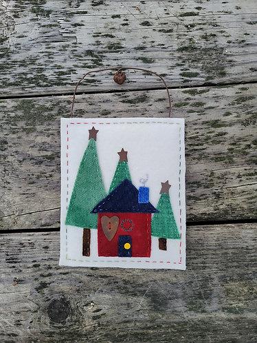 Christmas house wall art