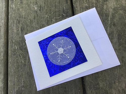 Snowflake greeting card, winter holiday card