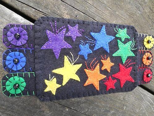 Rainbow and Stars Mug Rug