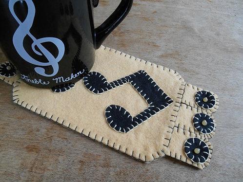 Music Note Mug Rug