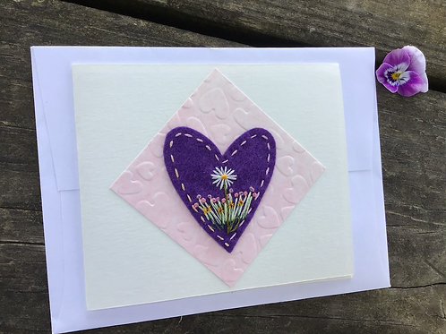 Daisy and purple heart card