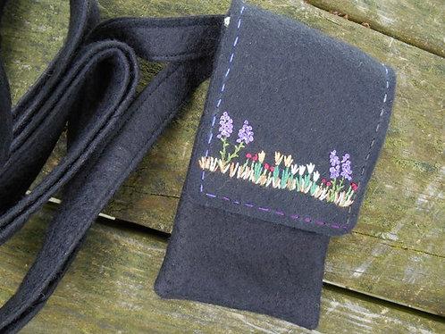 Handmade Handbag, Cross body bag, small purse, small handbag, Flowers