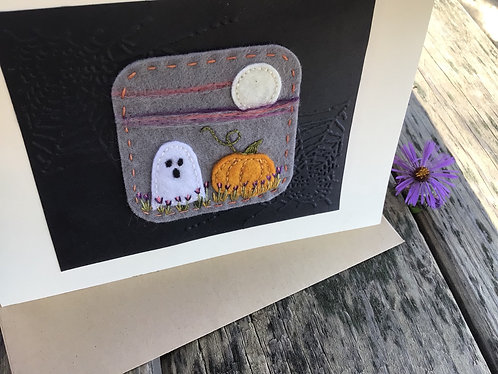 Halloween greeting card, ghost card