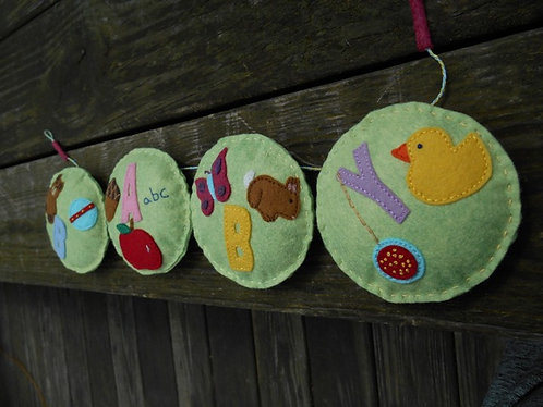 Baby's Room Banner, Wall Hanging, Nursery Garland, Baby Bunting, Baby Shower