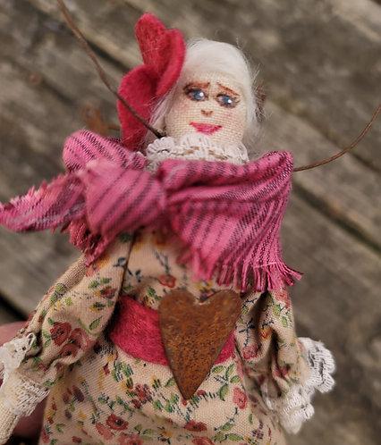 Angel doll, primitive angel ornament