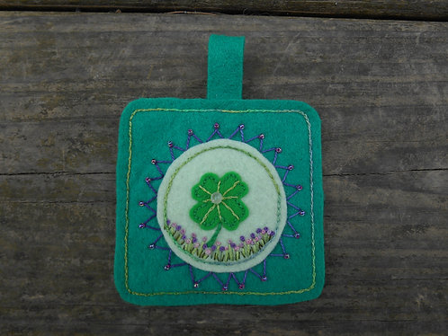 Shamrock  & Flowers Ornament