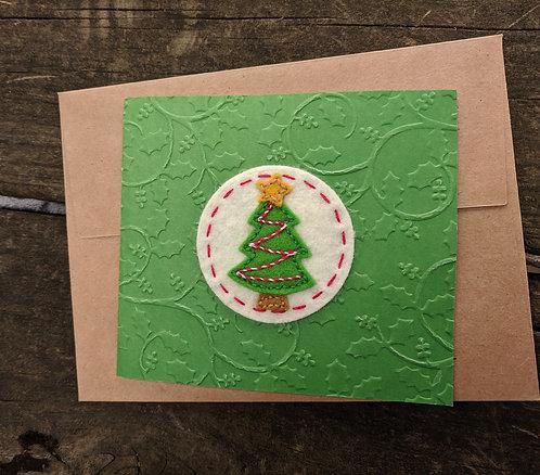 Christmas tree card, holiday greeting card