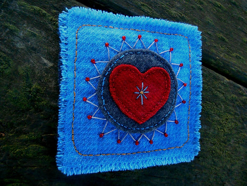 Heart Folk Art Magnet