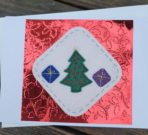 Christmas tree card, Christmas card, holiday greeting card