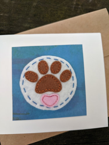 Dog paws greeting cards, sympathy card