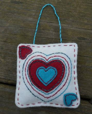 Valentine's Day Ornament, Heart Ornament
