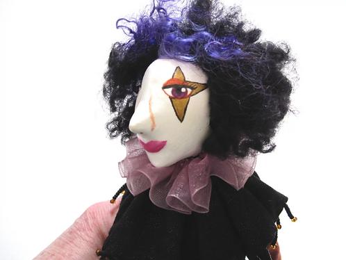 Ooak Art doll, paperclay, fabric art