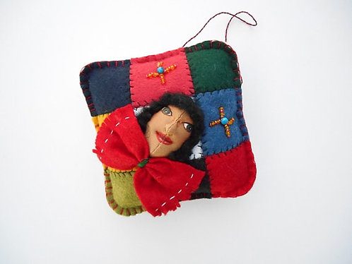Cloth Art Doll Ornament, Día de los Reyes, Three Kings D