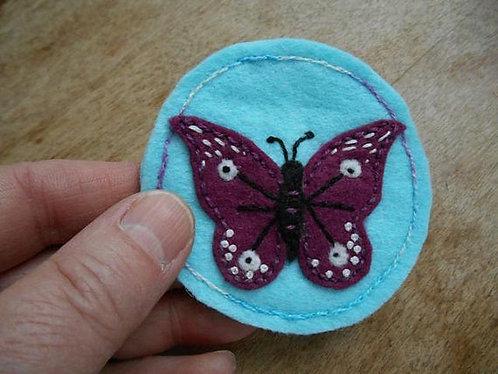 Butterfly magnet, Refrigerator Magnet, Butterflies, Animal Art, Embroidery Art