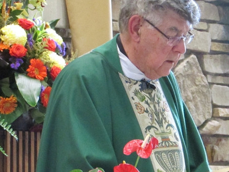 Former Pastors: Fr. Cote Mass and Reception Recap