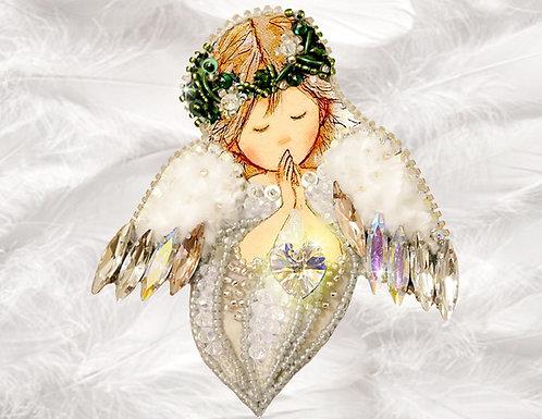 БРОШЬ Ангел любви