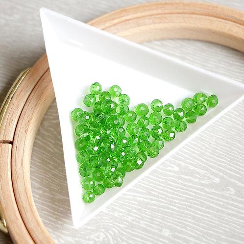 Бусины 4мм (восхитительный зеленый )