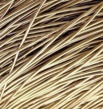 Канитель мягкая (светлая латунь) 1мм