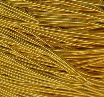 Канитель мягкая матовая(желтое золото) 1мм