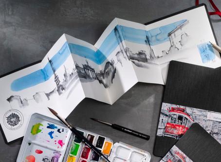 Watercolor Book Leporello-fold Style: 'the ZigZag book'