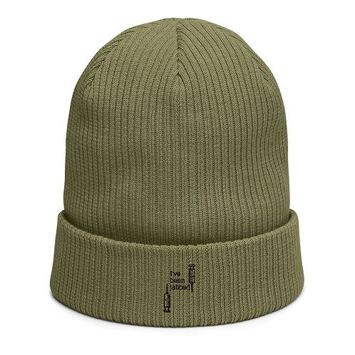 I've been jabbed - Organic ribbed beanie