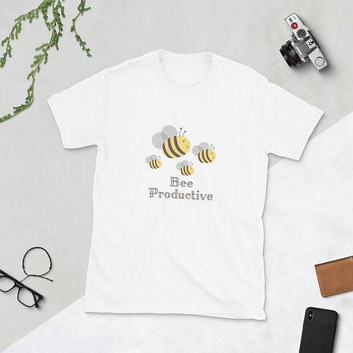 Bee Productive, Short-Sleeve Unisex T-Shirt