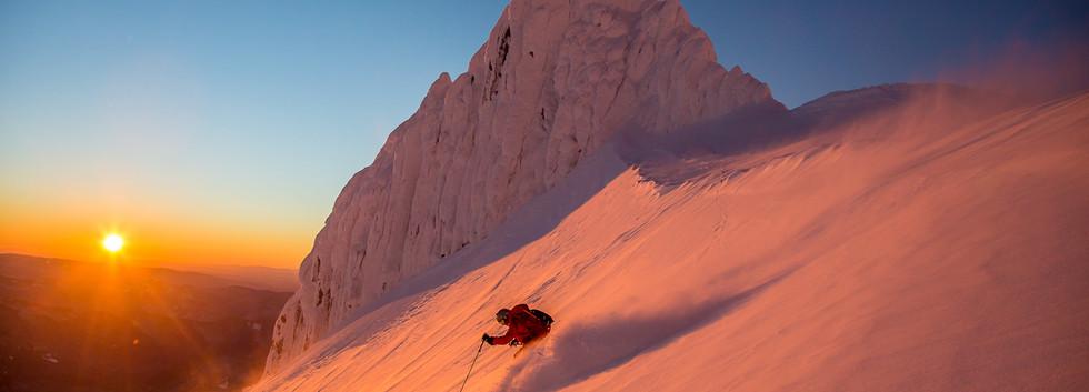 Twilight Skiing