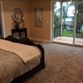 Master suite with private deck overlooki