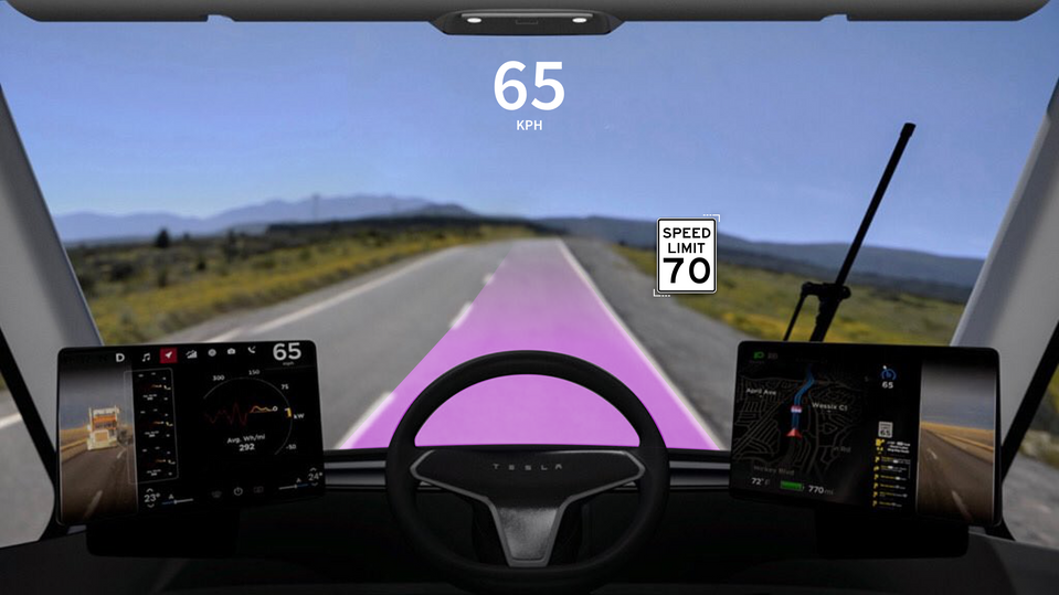 Tesla Semi Holographic Windshield