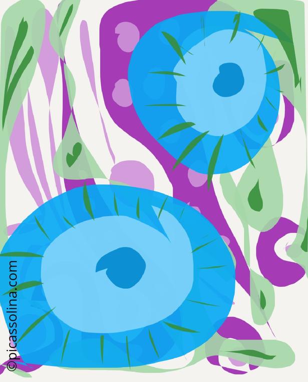 picassolina postcard illustration abstract