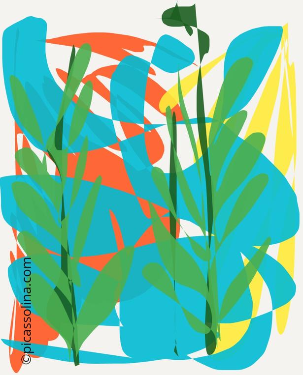 picassolina postcard illustration